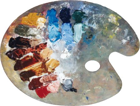 Color palettes for Artist canvas paint color